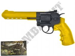 CS06 Magnum Revolver Replica Co2 Powered Metal Airsoft BB Gun 2 Tone Gold Black 6 Inch